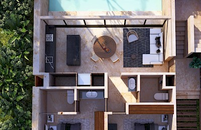Tulum Real Estate Listing | Bajo Cielo 1 Bedroom with Pool