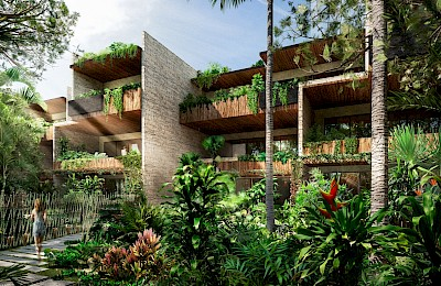 Tulum Real Estate Listing | Adora Residence Jungle 2 Beds