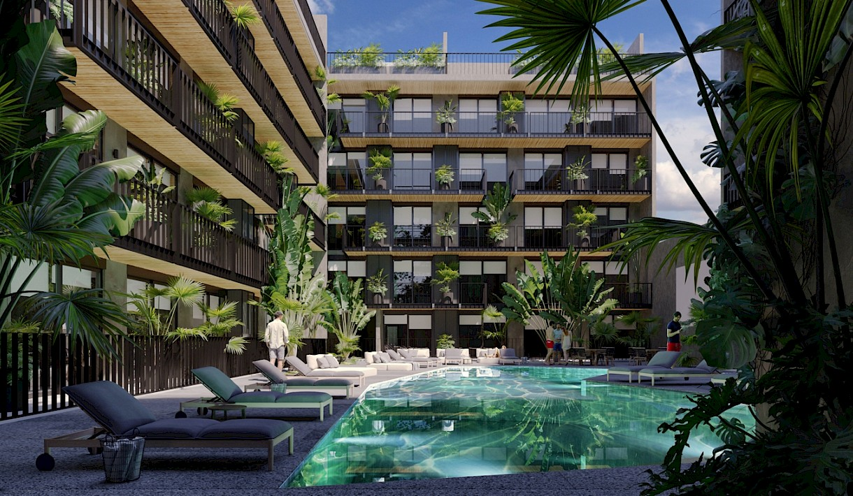 Playa Del Carmen Real Estate Listing | Urban Towers 1 Bed PH