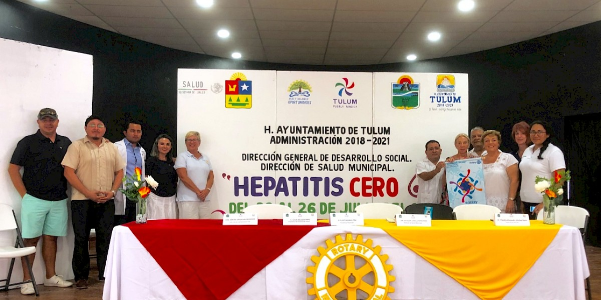 Local Rotary Clubs Support Hepatitis Zero World Eradication Project