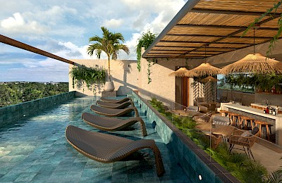 Tulum Real Estate Listing | Phi Mai Garden 1 Bedroom